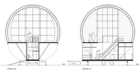 Projet de 2001 + Njoy pour le pavillon pop-up à Esch-sur-Alzette. ((Illustration: 2001 + Njoy))