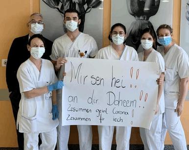 Le personnel des hôpitaux appuie un juste message sur les réseaux sociaux. (Photo: Centre hospitalier du nord/Facebook)