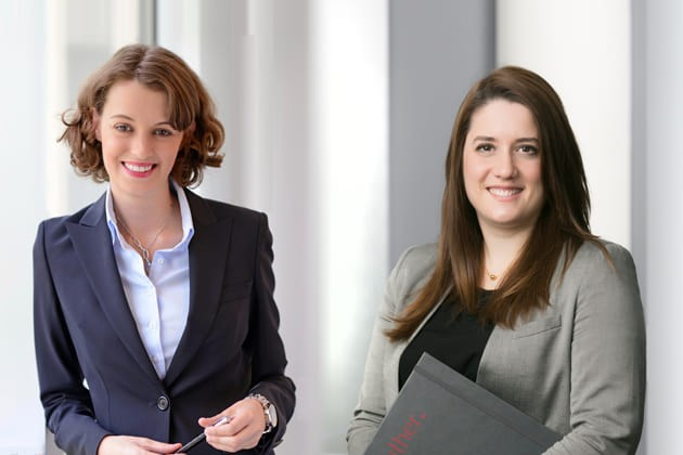 Marie Sinniger, Partner / Anne Laure Wach, Associate (Photo : Luther)