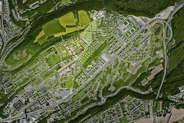 Le Laangfur deviendra le futur centre du Kirchberg. (Illustration: Fabeck Architectes)