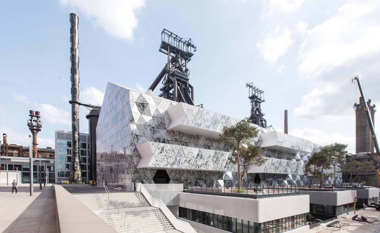 Vue duLuxembourg Learning Centre à Belval. (Photo:Valentiny hvp architects)