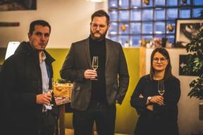 Mathias Guittet (Bureau Center), Charles Maes (Good Vibes) et Emilie Bertoni (Maison Moderne) ((Photo: Arthur Ranzy))
