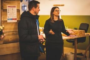Mathias Guittet (Bureau Center) et Emilie Bertoni (Maison Moderne) ((Photo: Arthur Ranzy))