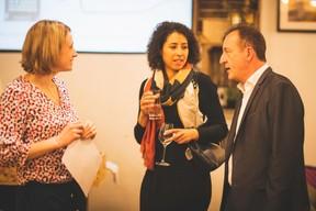 Sara Puttemans, Chris Peeters (Melia Luxembourg) et Pascal Dorban (Talk Finance) ((Photo: Arthur Ranzy))