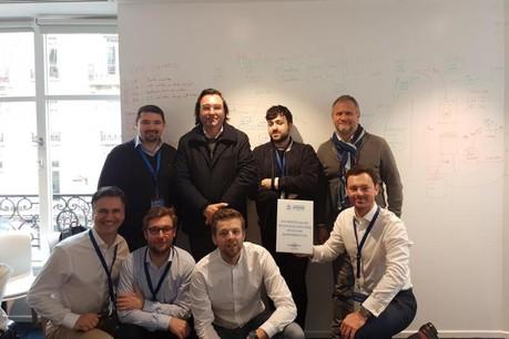L'équipe mixte de Neofacto et de la Banque centrale du Luxembourg s'est imposée à Paris. (Photo: Neofacto)