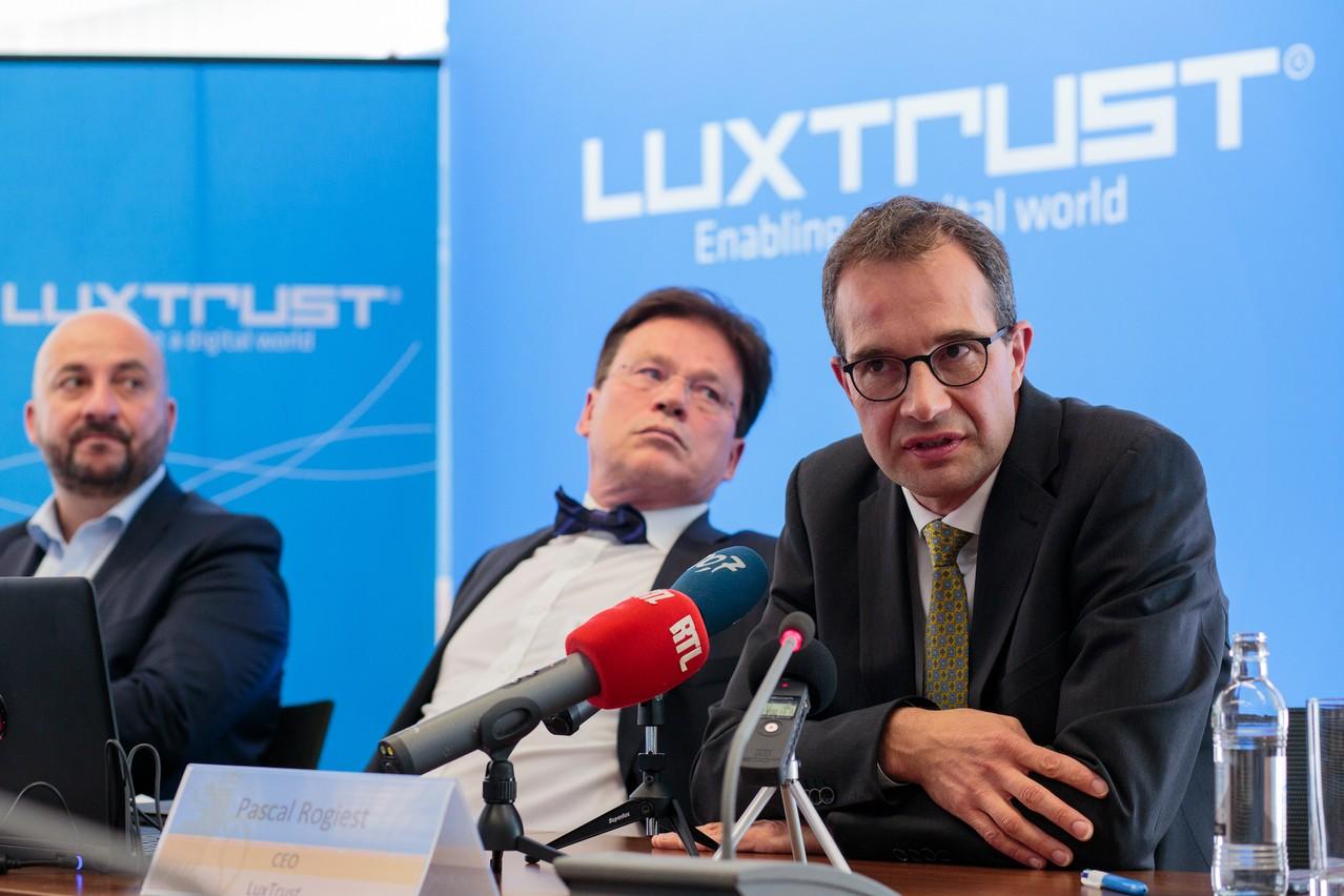Quinze mois après l'arrivée des Italiens deTecnoinvestimenti, Étienne Schneider, Serge Allegrezza et Pascal Rogiest étaient à nouveau réunis, à Paris, pour l'inauguration des bureaux parisiens. (Photo: Matic Zorman)