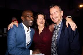 Nicholas Carter, Mary Carey (PWC) et Jim Kent (Radio 100,7) ((Photo: Patricia Pitsch/Maison Moderne))