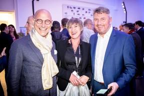 Vincent Bechet (Inowai), Nathalie De Smedt et Philippe Emond (Bilia-Emond) ((Photo: Jan Hanrion/Maison Moderne))