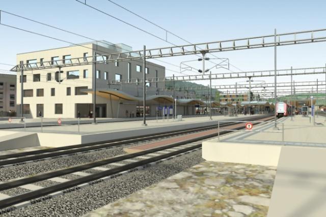 La gare ferroviaire d'Ettelbruck sera entièrement reconstruite, de même que ses cinq quais. (Photo: illustration MDDI)