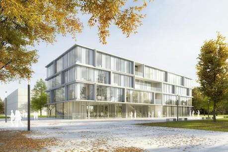 Premier prix pour la construction du Centre universitaire d'études culturelles de l'université Justus-Liebig de Giessen. (Photo: architecture + aménagement)