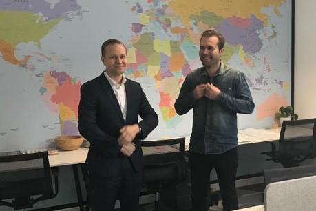 Atte Suominen (à gauche), le CEO de C Finance, et Jarno Partanen, le fondateur, dans leur bureau de la Lhoft. (Photo: DR)