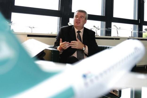 Christian Heinzmann (ici au moment de sa prise de fonction) est le seul non-Luxembourgeois à avoir dirigé Luxair. (Photo: Frédéric Di Girolamo / archives)