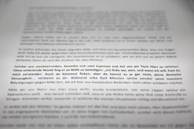 La note de l'ancien espion est explicite... (Photo: Maison Moderne Studio)