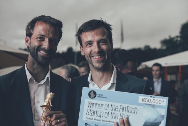 Bert et Rob Boerman, cofondateurs de 2Gears, lors des Fintech Awards. (Photo: Anna Katina)