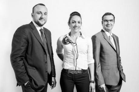 Michele Gallo, Hélène Michel, Jérôme Grandidier (Photo: Julien Becker)