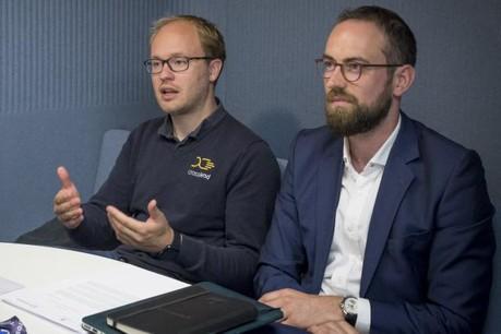 Oliver Schimek, CEO de Crosslend, et Alex Lawrence, directeur général de Crosslend Luxembourg. (Photo: Maison Moderne)