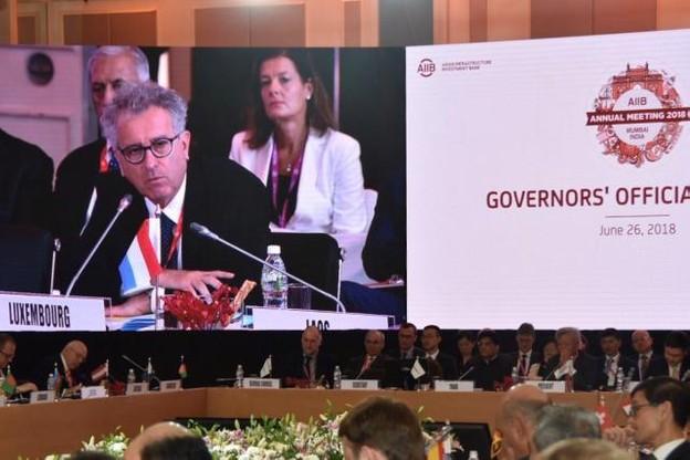 À Mumbai, Pierre Gramegna a officiellement invité ses partenaires de l'AIIB au Luxembourg en juillet 2019. (Photo: SIP)