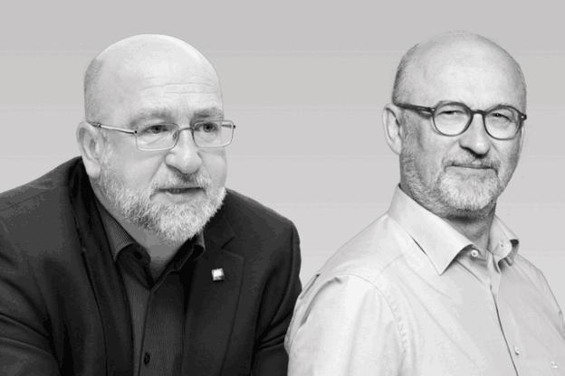 André Roeltgen, Président du syndicat OGBL, et Jean-Jacques Rommes, Administrateur délégué de l'Union des entreprises luxembourgeoises (UEL) sont en désaccord au sujet de l'augmentation du salaire social minimum. (Photo: Maison Moderne archives/Anthony Dehez)