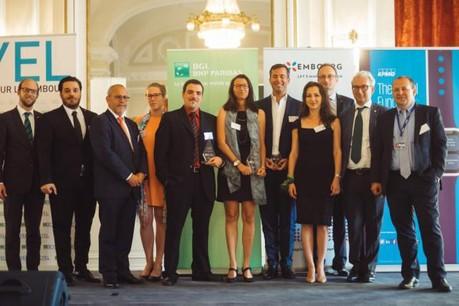 Mathilde Argaud, fondatrice de Largowind (au centre), a remporté la dernière édition du concours Creative Young Entrepreneur Luxembourg. (Photo : Maison Moderne / archives)