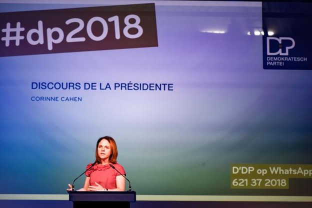 Corinne Cahen, présidente du DP, sera tête de liste au Centre pour les élections législatives d'octobre.  (Photo: Nader Ghavami)