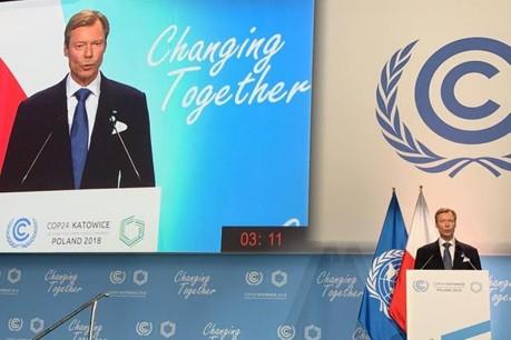 «Ne nous voilons pas la face. Trois ans après l'adoption de l'accord de Paris, nous abordons ce défi central pour l'humanité qu'est la lutte contre le changement climatique dans une posture qui se fragilise de mois en mois», a expliqué le Grand-Duc. (Photo: Cour grand-ducale)
