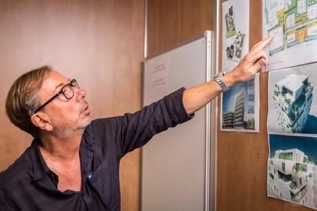 La construction de RTL City et la transformation du site de l'ancien siège en un nouvel ensemble immobilier mêlant résidentiel, commerces et bureaux auront été le dernier chantier d'Alain Berwick. (Photo: Maison moderne / archives)