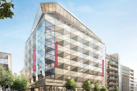 Les Galeries Lafayette occuperont l'espace prévu à l'angle de la Grand-Rue et du boulevard Royal dans le projet Royal-Hamilius. (Photo: Galeries Lafayette)