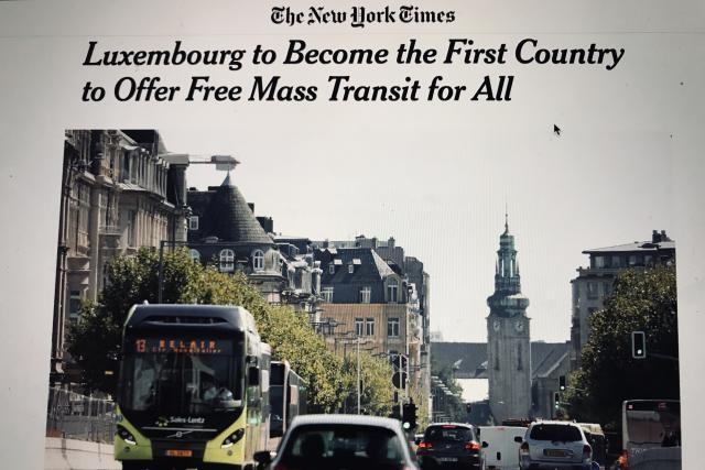L'article note que l'État prévoit 900 millions de dépenses pour ses transports publics. Et empoche 30 millions via les tickets. (Photo: capture d'écran / New York Times)