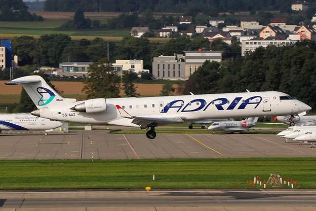 La liaison Sarrebruck – Berlin par Luxair sera opérée par un CRJ700 d'Adria Airways qui sera peint, d'ici janvier, aux couleurs de la compagnie nationale. (Photo: DR)