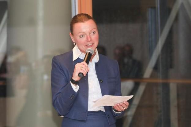 Annemarie Arens, lors de la soirée des 10 ans de Luxflag, le 22 novembre, à la Banque européenne d'investissement. (Photos: Banque européenne d'investissement)
