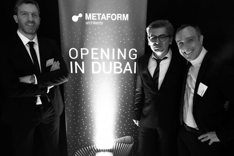 Les associés du bureau d'architectes: Thierry Cruchten, Shahram Agaajani et GG Kirchner. (Photo: DR)