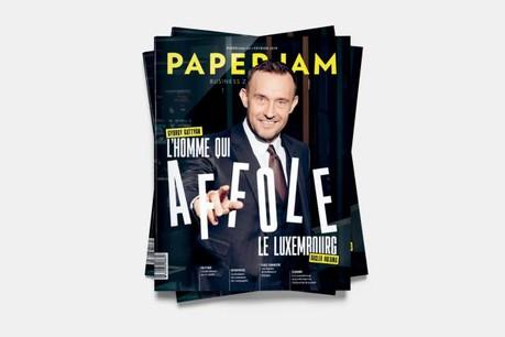En couverture de ce numéro de février de Paperjam, György Gattyán, fondateur et propriétaire de Docler Holding. (Photo: Jan Hanrion / Maison Moderne)