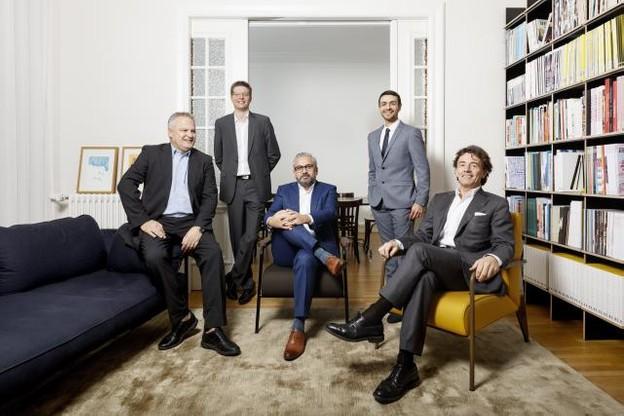 Le conseil d'administration de Maison Moderne. De gauche à droite, Jean-Claude Bintz, Etienne Velasti, Mike Koedinger, Richard Karacian, Daniel Schneider. (Photo: Maison Moderne)