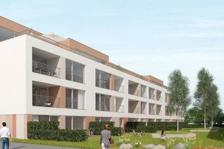 L'ensemble résidentiel n'est pas encore construit...    (Illustration: Kuhn)