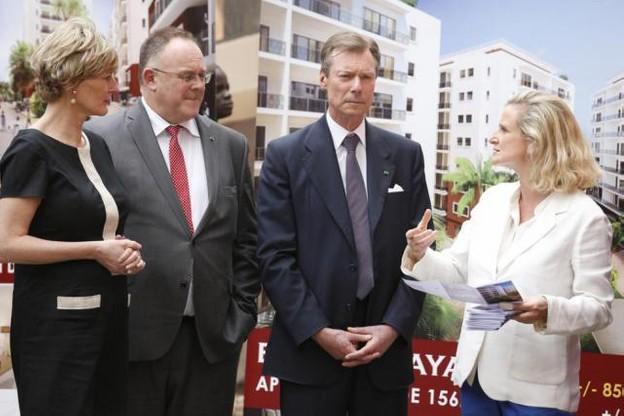 Tatiana Fabeck a rencontré Francine Closener (secrétaire d'État à l'Économie), Romain Schneider (ministre de la Coopération et de l'Action humanitaire) et S.A.R. le Grand-Duc à Dakar. (Photo: SIP - Julien Warnand)