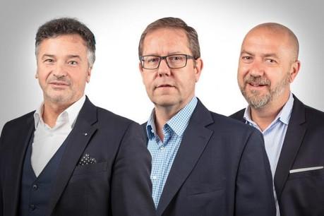 Gianni Pietrangelo, Jean-Claude Frisch et Stéphane Mockels se livrent sur la croissance du secteur Mice, en pleine expansion. (Photo: Jenna Theis / Maison Moderne)