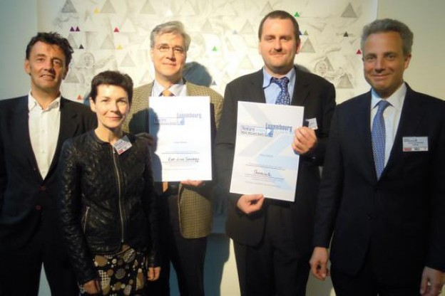 Jean-Luc Henrioul (Root Lines Technology) et Alexander Crawford (Théracule) ont été récompensés pour ces 1er awards. (Photo: Greta Schäfer/CatCap)