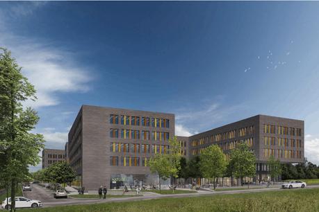 Ce nouveau bâtiment administratif avec un rez commercial représente plus de 30.000m²hors-sol à construire. (Illustration:Arlette Schneiders Architectes)