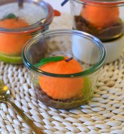 Mandarine, chocolat blanc et basilic : une vraie petite bombe! (Cocottes)