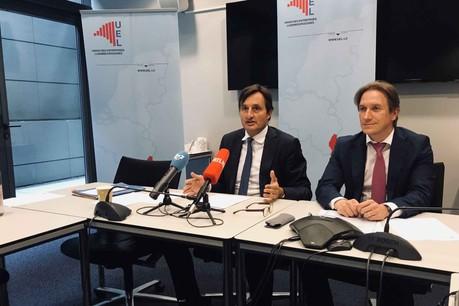 Nicolas Buck, président, aux côtés du directeur de l'UEL, Jean-Paul Olinger. (Photo: Paperjam)