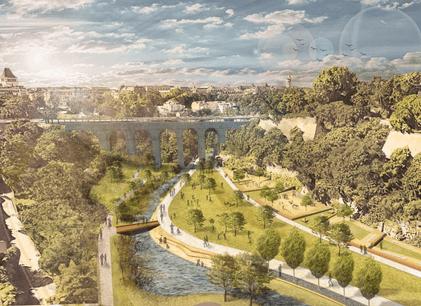 L'ensemble du projet de réaménagement est estimé à 40,9 millions d'euros. (Illustration: Ville de Luxembourg, Förder Landschaftsarchitekten, TR-Engineering.)