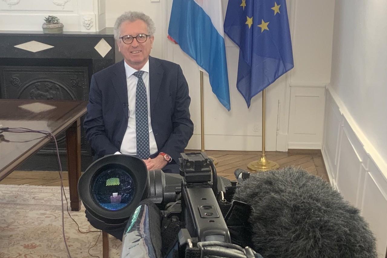 PierreGramegna, ministre des Finances, s'est dit favorable aux «coronabonds», dans une interview accordée le vendredi 3 avril à CNBC. (Photo: Twitter/@pierregramegna)