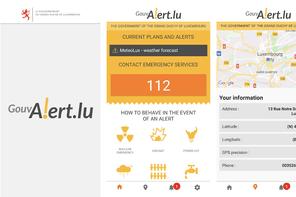 Lancée il y a un an et demi, l'appli GouvAlert.lu n'a pas connu le succès attendu et n'est pas utilisée au cours de cette crise. (Photo: Centre de crise/Capture d'écran)