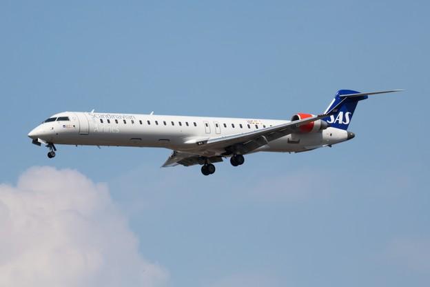 Le premier BombardierCRJ900 de SAS, en provenance de Stockholm, s'est posé lundi au Findel. (Photo: Shutterstock)
