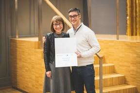 Patrizia Ascani (Chem) et Julien Delpy (Maison Moderne) ((Photo: Arthur Ranzy))
