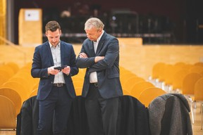 Yvan Barnabaux (Innov'ICTion) et Hansjörg Reimer (Chem) ((Photo: Arthur Ranzy))