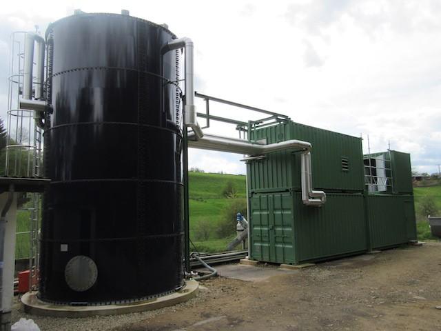 La station de traitement peut s'intégrer dans le paysage à moindres frais. (Photo: Ama Mundu Technologies)