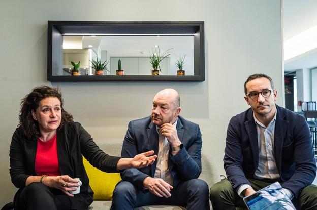 Céline Bardet, Fabrice Croiseaux et Nicolas Sanitas. (Photo: Mike Zenari)