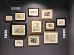 Ensemble de dessins de l'expressionnisme allemand sur le stand de la galerie WOS ((Photo : Paperjam))