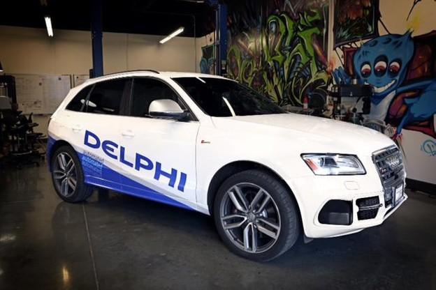 Présenté à Las Vegas, le véhicule automatisé roule en conditions live entre les côtes ouest et est des États-Unis. (Photo: Delphi)